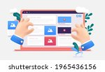 web content creation  ...   Shutterstock .eps vector #1965436156