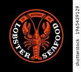 logo badge of lobster seafood...   Shutterstock .eps vector #1965439129