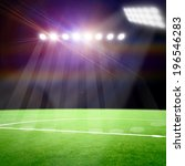 soccer field with the bright... | Shutterstock . vector #196546283