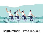 group of young people riding a...   Shutterstock .eps vector #1965466600