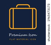 briefcase thin outline symbol...