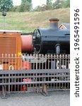 Vintage Steam Locomotive Beside ...