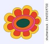 vector isolated hippie flower... | Shutterstock .eps vector #1965519733