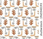 abstract faces seamless pattern ... | Shutterstock .eps vector #1965540193