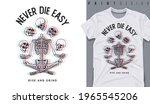 graphic t shirt design  never... | Shutterstock .eps vector #1965545206