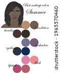 best makeup colors for summer...   Shutterstock .eps vector #1965570460