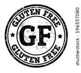 gluten free grunge rubber stamp ... | Shutterstock .eps vector #196557080