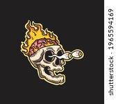 frantic skull illustration of...   Shutterstock .eps vector #1965594169