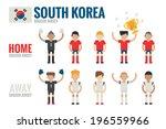 sputh korea soocer icons flat... | Shutterstock .eps vector #196559966