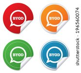 byod sign icon. bring your own...   Shutterstock . vector #196560074