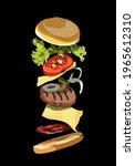 Burger Ilustration Realistic...