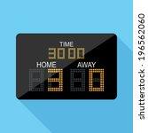 scoreboard icon. flat design... | Shutterstock .eps vector #196562060