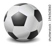 detailed black fringe football... | Shutterstock . vector #196563860