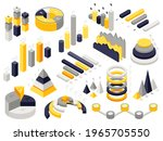 isometric infographic charts.... | Shutterstock . vector #1965705550