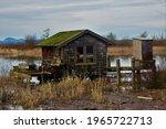 Fishing shacks along skagit...