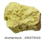 Small photo of elemental native sulfur rock isolated on white background