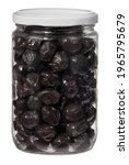 Black Olives In A Jar. Isolated ...