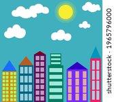 cityscape  simple urban... | Shutterstock .eps vector #1965796000