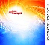 sunlight. abstract artistic... | Shutterstock .eps vector #196579910