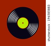 vector vinyl record icon. eps10 | Shutterstock .eps vector #196585883