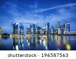 Central business district in Singapore.