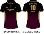 sports polo collar t shirt... | Shutterstock .eps vector #1965894559