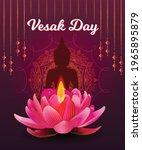 Vesak Day Banner With Gautama...