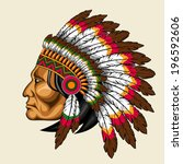 American Indian In Traditional...