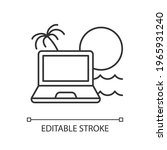 digital nomad linear icon.... | Shutterstock .eps vector #1965931240