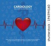 medical design over blue... | Shutterstock .eps vector #196594160