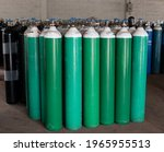 Many Oxygen Cylinders And Argon ...