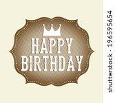 birthday design over beige... | Shutterstock .eps vector #196595654