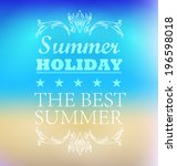elements for summer holidays... | Shutterstock .eps vector #196598018