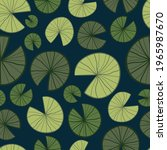 Lily Pad Seamless Vector Repeat ...