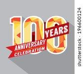 100th years anniversary... | Shutterstock .eps vector #196600124