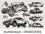 custom cars vintage concept...   Shutterstock .eps vector #1966015036