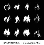 fire icon on black background....   Shutterstock .eps vector #1966018753