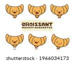 set  illustration of croissant... | Shutterstock .eps vector #1966034173