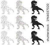 dinosaur illustration. set of...   Shutterstock .eps vector #1966037020