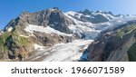 Panorama Of A Huge Glacier In...