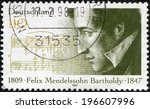 germany   circa 1997  a stamp... | Shutterstock . vector #196607996