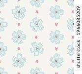 seamless floral pattern design... | Shutterstock .eps vector #1966085209