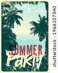 summer beach party typographic...   Shutterstock .eps vector #1966107340