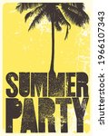 summer beach party typographic... | Shutterstock .eps vector #1966107343