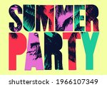 summer party typographic grunge ... | Shutterstock .eps vector #1966107349