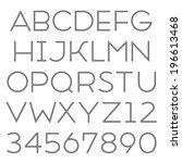 handmade sans serif font. thin...   Shutterstock . vector #196613468
