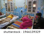 Small photo of Beawar, Rajasthan, April 30,2021: COVID patients receives treatment in Corona ward at Government Hospital, amid shortage of oxygen and beds due to surge in covid cases in Beawar. Photo: Sumit Saraswat