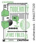 modernity slogan with geometric ... | Shutterstock .eps vector #1966177120