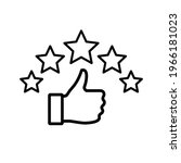 five stars rating review icon.... | Shutterstock .eps vector #1966181023