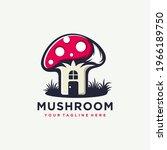 mushroom farming logo vector... | Shutterstock .eps vector #1966189750